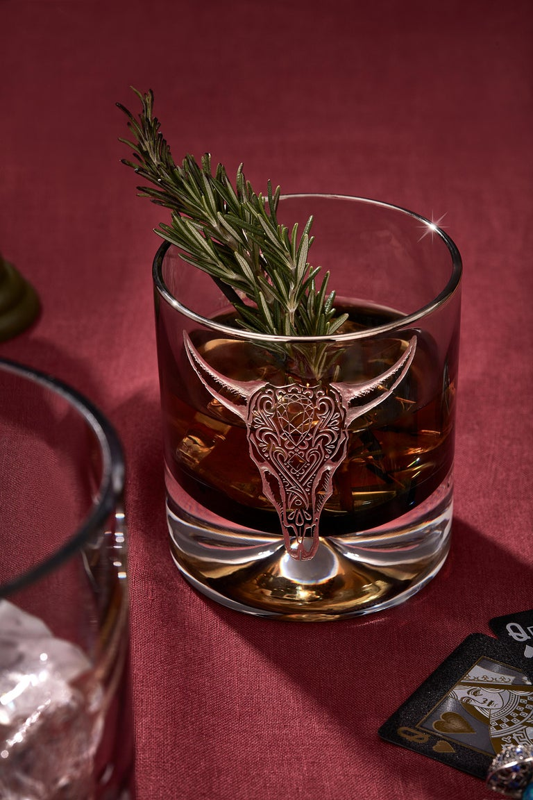 Stephen Webster Tequila Lore Cow Engraved Detail Amethyst Single Tumbler In New Condition For Sale In London, GB