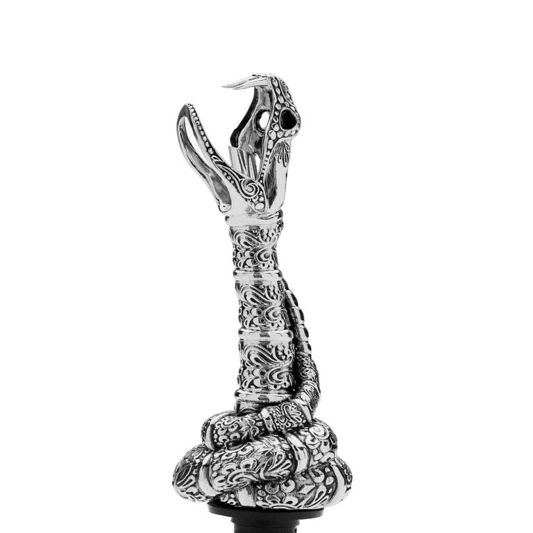 Contemporary Stephen Webster Tequila Lore Sterling Silver Snake Pourer For Sale