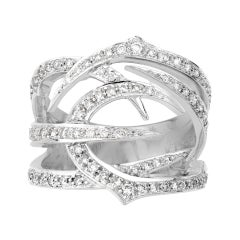 Stephen Webster Thorn 18 Carat White Gold and '0.55 Carat' White Diamond Ring