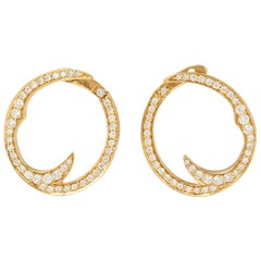 Stephen Webster Thorn 18 Carat Yellow Gold Pave Diamond Earrings