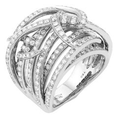 Stephen Webster Thorn 18 Karat Gold and White Diamond '1.82 Carat' Bandeau Ring