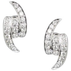 Stephen Webster Thorn 18 Carat Gold and '0.24 Carat' White Diamond Knot Earstuds