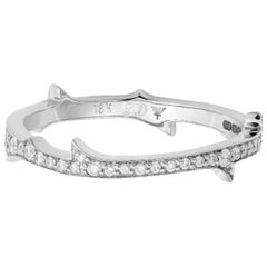Stephen Webster Thorn 18ct White Gold and '0.31 Carat' White Diamond Stem Ring