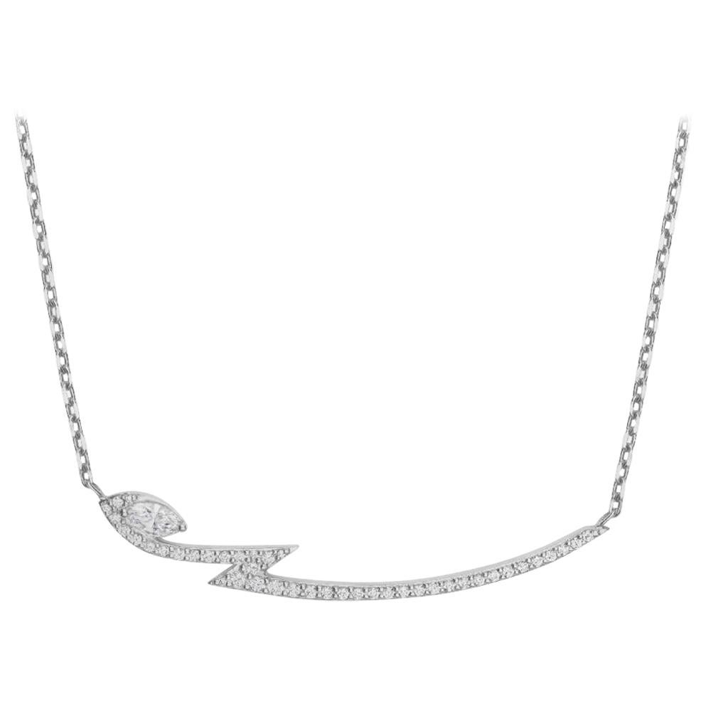 Stephen Webster Thorn 18 Carat White Gold and '0.40ct' White Diamond Necklace