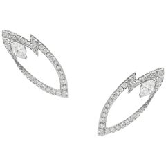 Stephen Webster Thorn 18 Carat Gold and '0.80 Carat' White Diamond Earrings