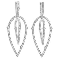 Stephen Webster Thorn 18 Carat Gold and White Diamond 3D Large Hoop Earrings