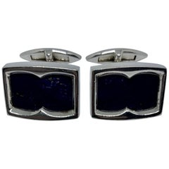 "Stephen Webster ""Thorn"" Cufflinks in Sterling Silver and Lapis"