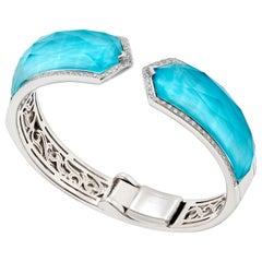 Stephen Webster Turquoise Crystal Haze and White Diamond Pavé Bracelet