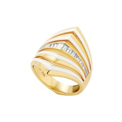 Stephen Webster Vertigo Gaining Perspective 18 Carat Gold and Diamond Ring