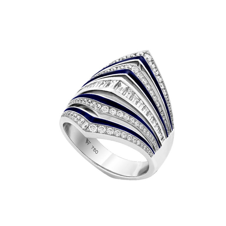 For Sale: undefined Stephen Webster Vertigo Gaining Perspective 18 Carat White Gold and Diamond Ring