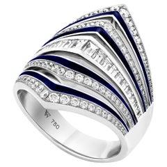 Stephen Webster Vertigo Gaining Perspective 18 Karat White Gold and Diamond Ring