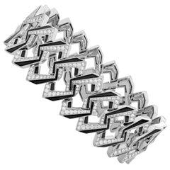 Stephen Webster Vertigo Impossible Link 18 Karat White Gold and Diamond Bracelet