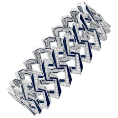 Stephen Webster Vertigo Impossible Link 18 Karat White Gold and Diamond Bracelet