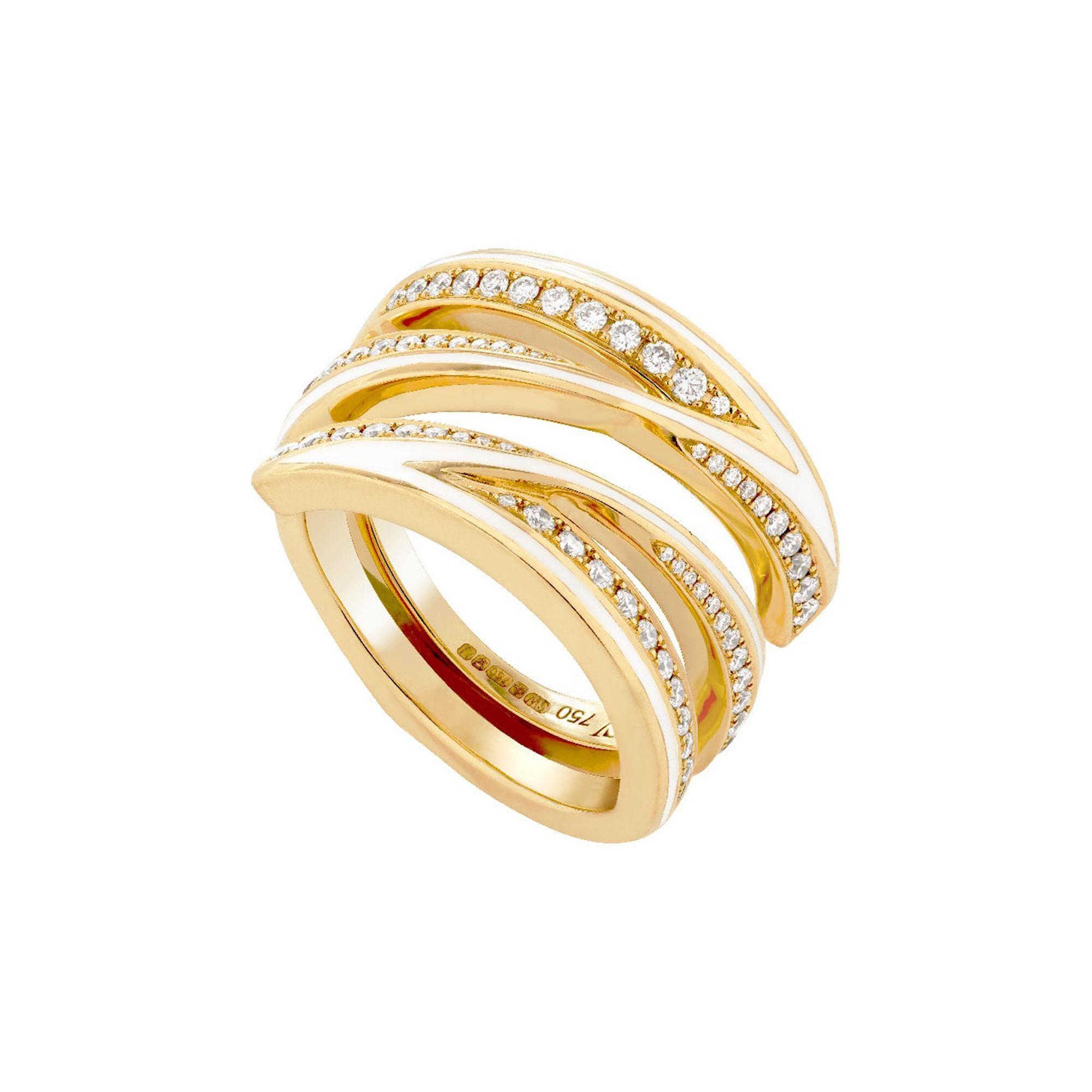 Stephen Webster Vertigo Infinity 18 Carat Gold and White Diamond '0.65 Ct' Ring