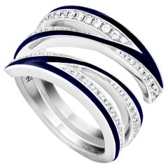 Stephen Webster Vertigo Infinity 18 Karat Gold and White Diamond '0.65 Ct' Ring