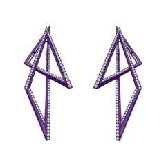 Stephen Webster Vertigo Infinity Titanium and White Diamond '2.86cts' Earrings