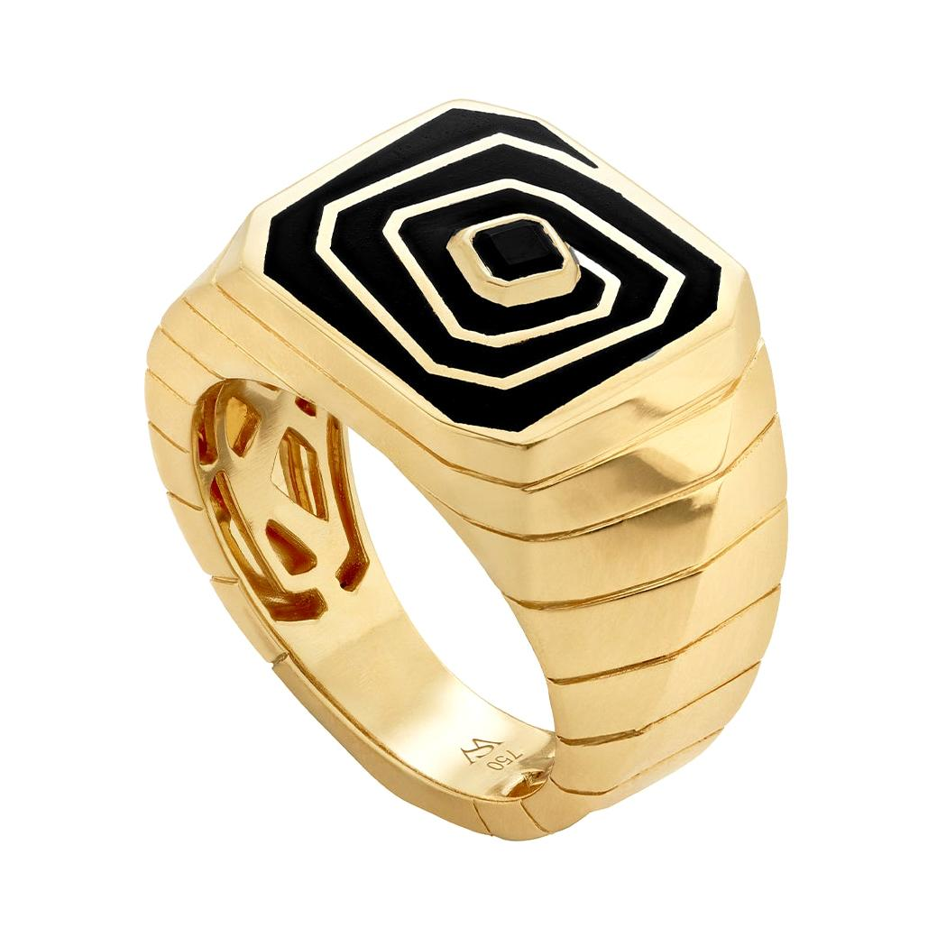 Stephen Webster Vertigo Losing Perspective 18 Carat Gold and Spinel Pinky Ring