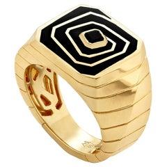 Stephen Webster Vertigo Losing Perspective 18 Carat Gold and Spinel Signet Ring