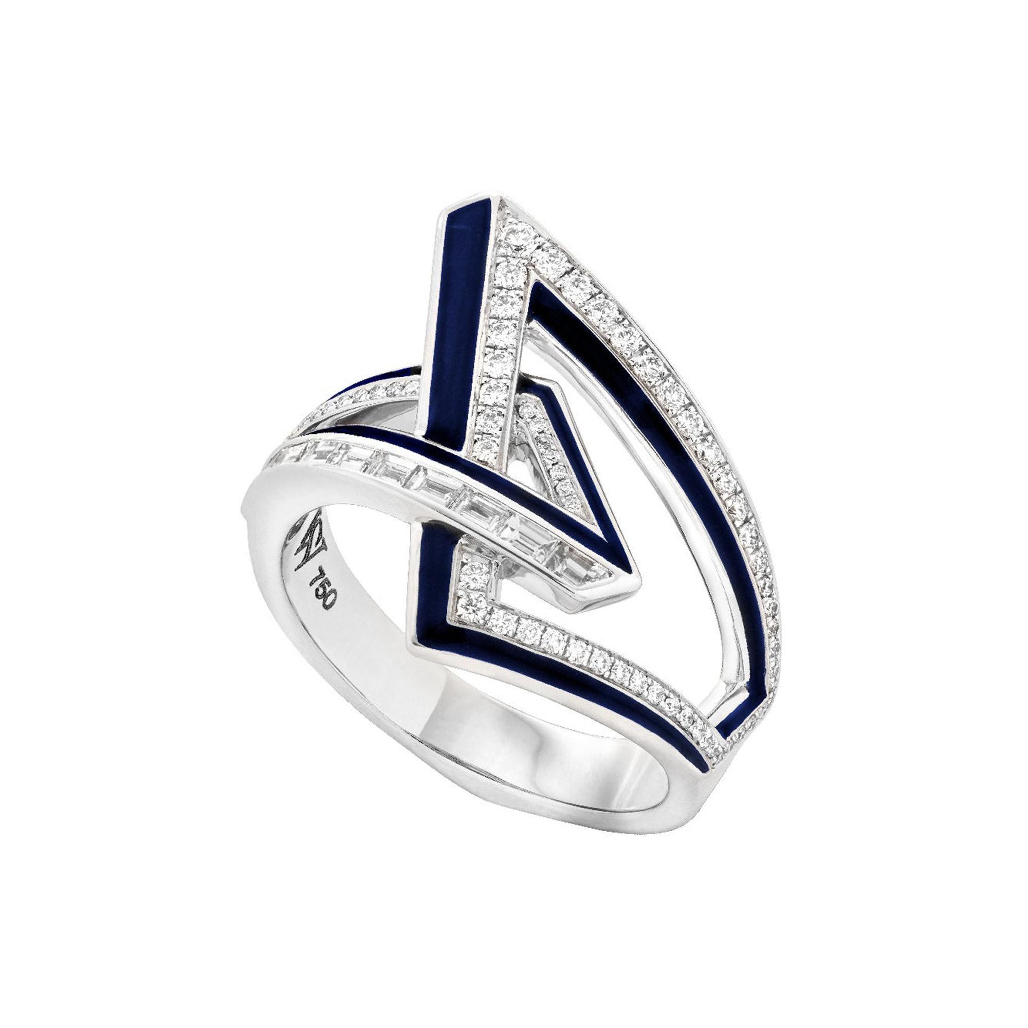 Stephen Webster Vertigo Obtuse 18 Carat Gold and White Diamond '0.35 Carat' Ring