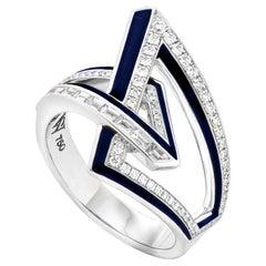 Stephen Webster Vertigo Obtuse 18 Karat Gold and White Diamond '0.35 Carat' Ring