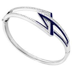 Stephen Webster Vertigo Obtuse 18 Karat White Gold and White Diamond Bracelet