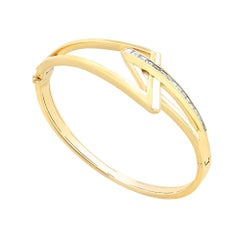 Stephen Webster Vertigo Obtuse 18 Karat Yellow Gold and White Diamond Bracelet