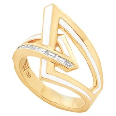 Stephen Webster Vertigo Obtuse 18 Karat Gold and White Diamond '0.29 Carat' Ring