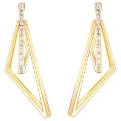 Stephen Webster Vertigo Obtuse 18K Gold and White Diamond '1.83 Carat' Hoops