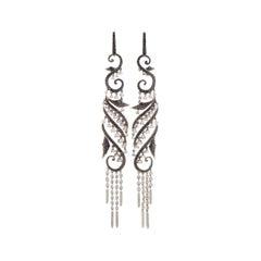 Stephen Webster Voyage Women's 18 Karat White Gold Diamond Drop Earrings