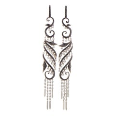 Stephen Webster Voyage Women's 18 Karat White Gold Diamond Drop Earrings