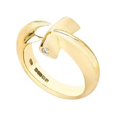 Stephen Webster White Diamond and 18 Carat Yellow Gold Hammerhead Ring