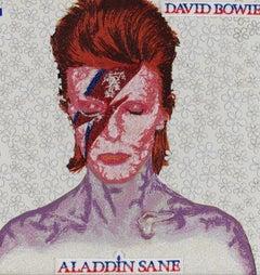 Aladdin Sane, David Bowie, Embroidery Assemblage