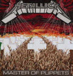 Master of Puppets, Metallica, Embroidery Assemblage