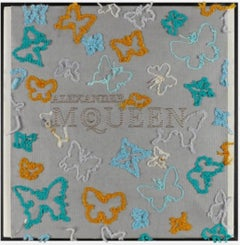 McQueen Flutter (teal), Embroidery Assemblage