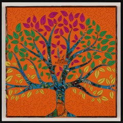 Vibrant Tree of Life, Embroidery Assemblage