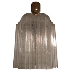 Stepped Glass Doria Pendant Chandelier from Germany