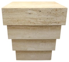 Stepped Travertine Table