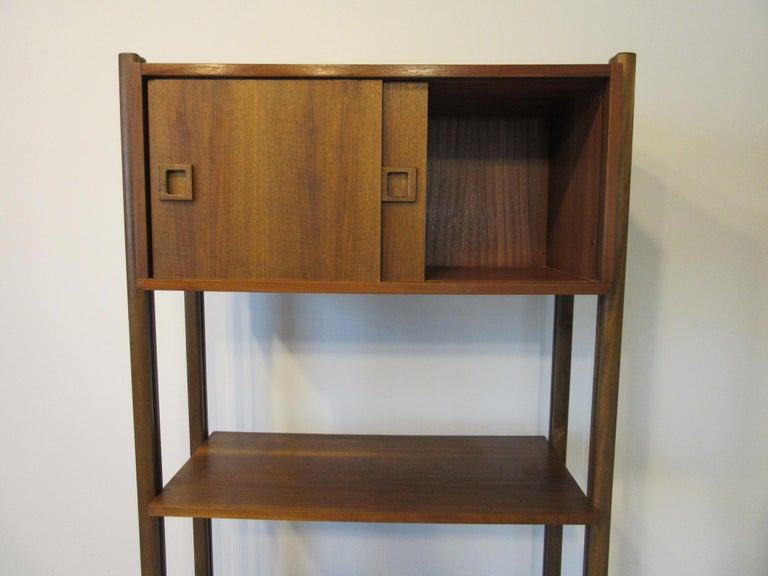 Stereo / Record Walnut Storage Wall Unit For Sale 4