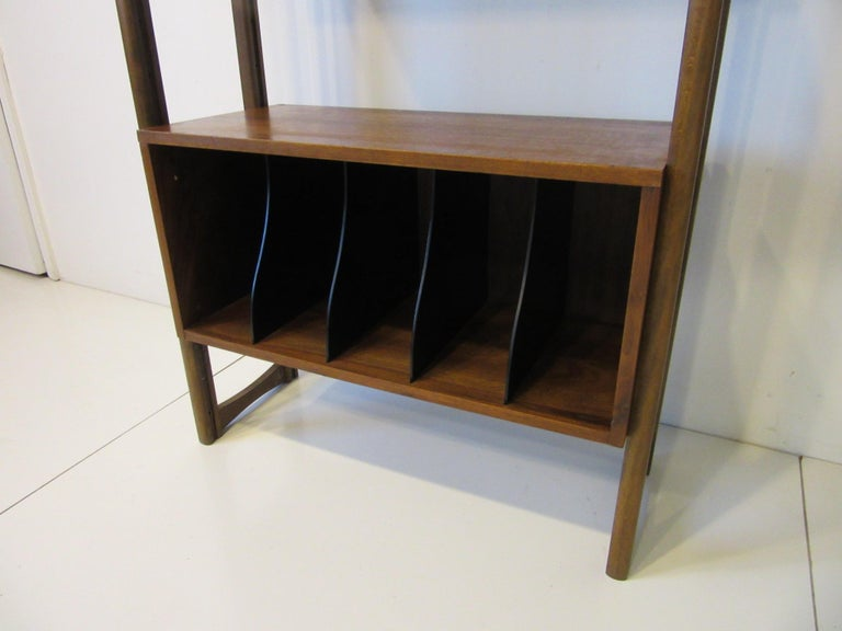 American Stereo / Record Walnut Storage Wall Unit For Sale