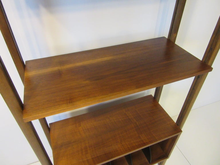 Stereo / Record Walnut Storage Wall Unit For Sale 3