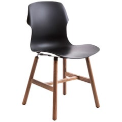 Stereo Set of 2 Black Chairs by Luca Nichetto