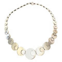 Stering Silver Hallmarked Geometric Link Necklace