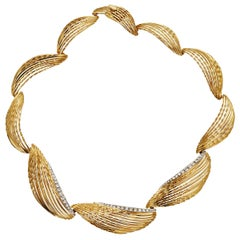 Sterlé Paris Yellow Gold Diamond Necklace