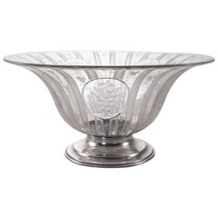 Sterling and Crystal Centerpiece Bowl