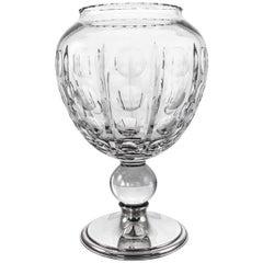 Sterling and Crystal Vase