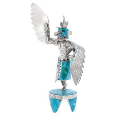 Sterling and Turquoise Eagle Dancer