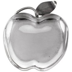 Sterling Apple Dish