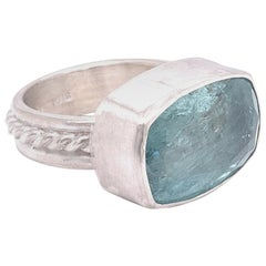 Sterling Aquamarine Cocktail Ring