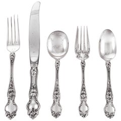 Sterling Art Nouveau Flatware Set of '60 Pieces'