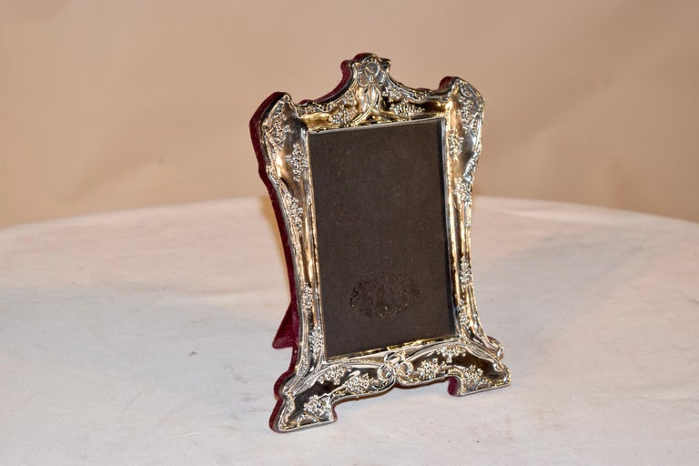 American Sterling Art Nouveau Picture Frame For Sale